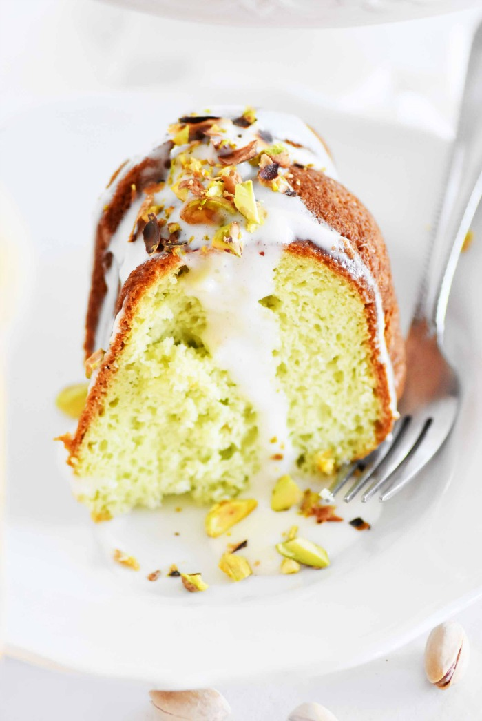 Slice of Pistachio Bundt Cake 1