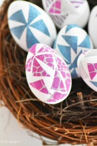 How to Make Washi Tape Easter Eggs