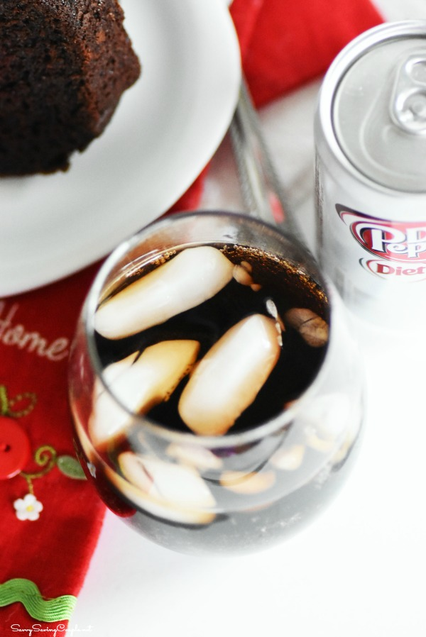 Dr Diet Pepper in glass