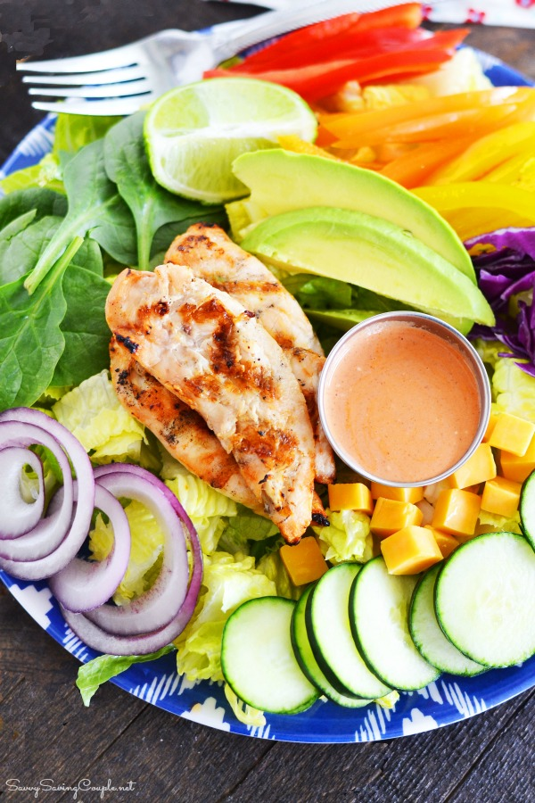 Healthy-rainbow-grilled-chicken-salad