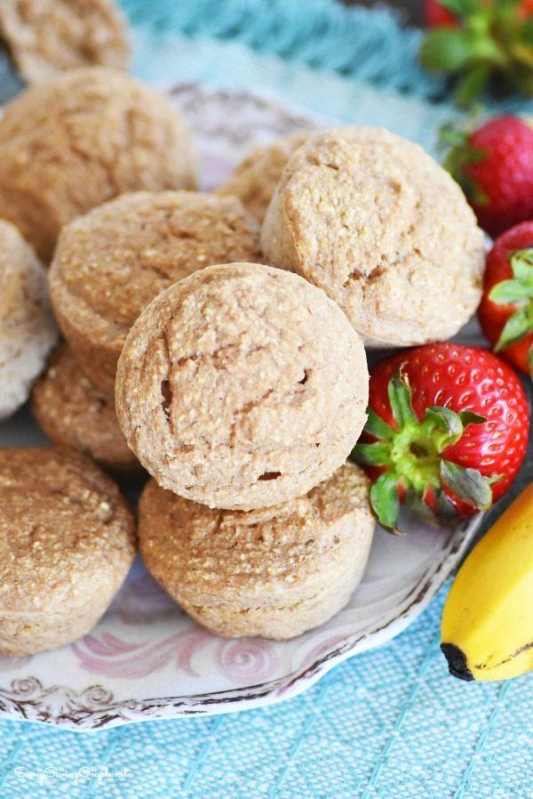 4 Ingredient Strawberry Banana Muffins