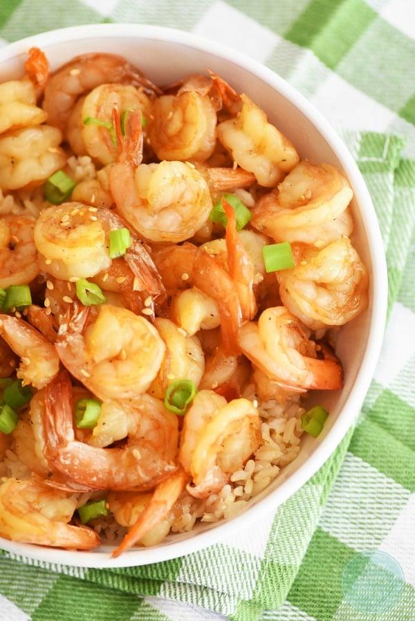 Honey-garlic-shrimp-and-rice
