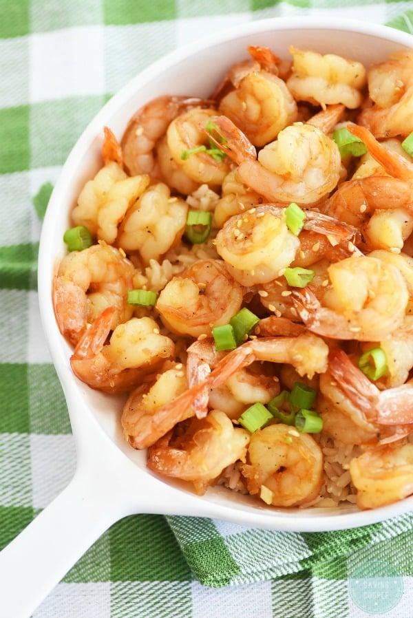 Honey-shrimp-and-rice