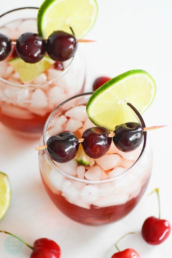 Virgin Cherry-Lime Rickey Drink