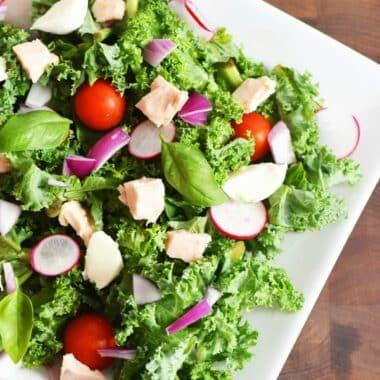 Tuna-Kale-Caprese-Salad