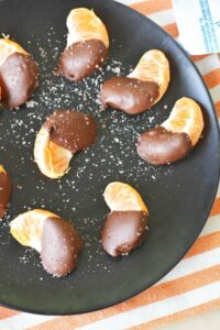 Healthy Snack Ideas & Some Chocolate Dipped Tangerines with Sea Salt