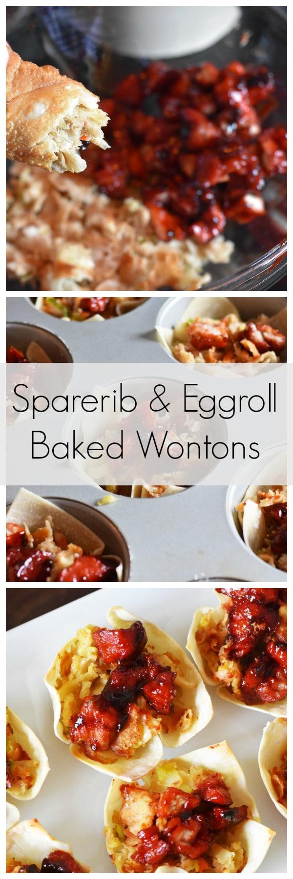 sparerib-eggroll-baked-wontons