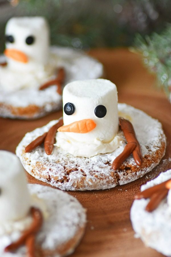 Melting Snowman Cookies Hack