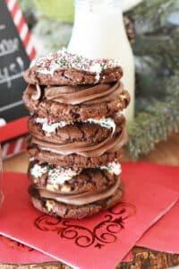 Shortcut Chocolate Buttercream Cookie Sandwiches