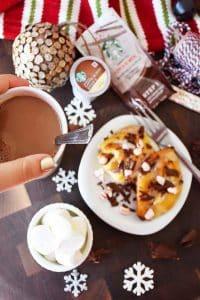 20 Minute Peppermint Chocolate Cinnamon Buns