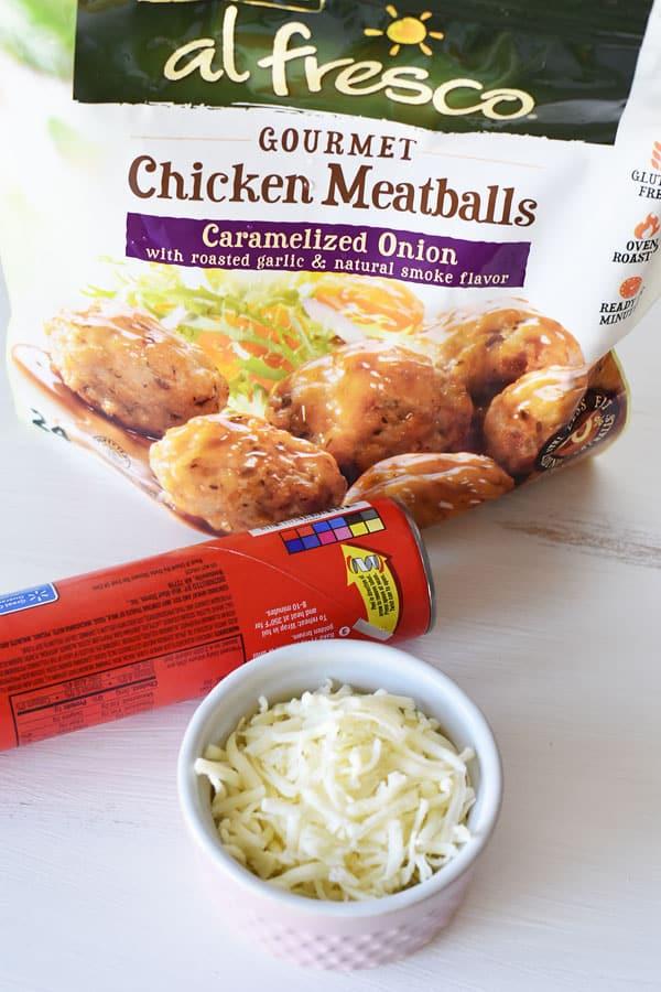 Cheesy Chicken Meatballs Recipe — Dishmaps