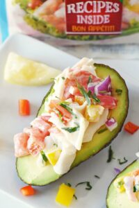 Tarragon Crab Salad Stuffed Avocados
