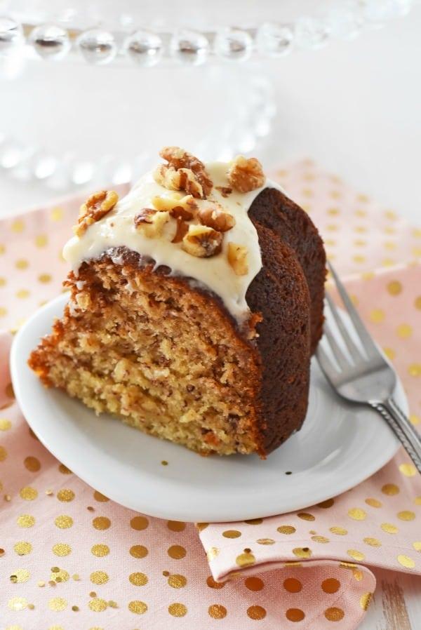 Moist Banana Nut Bundt Cake