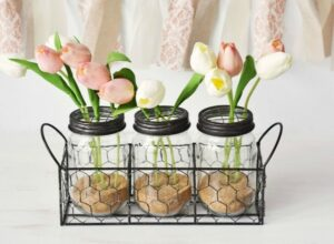 DIY Tulip Bathroom Jar Decor & Dove Dream Shower Foam