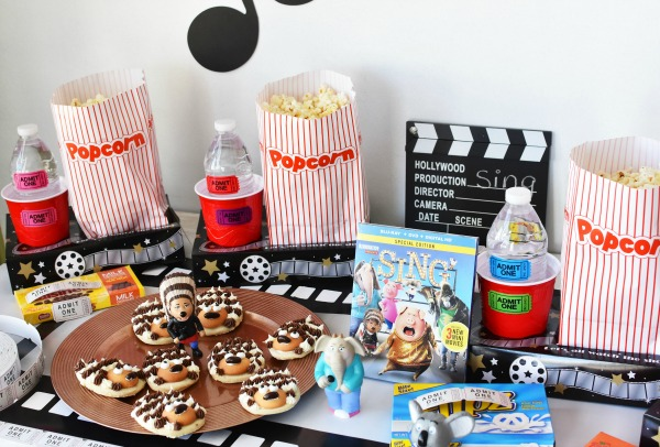 Sing Movie Party table