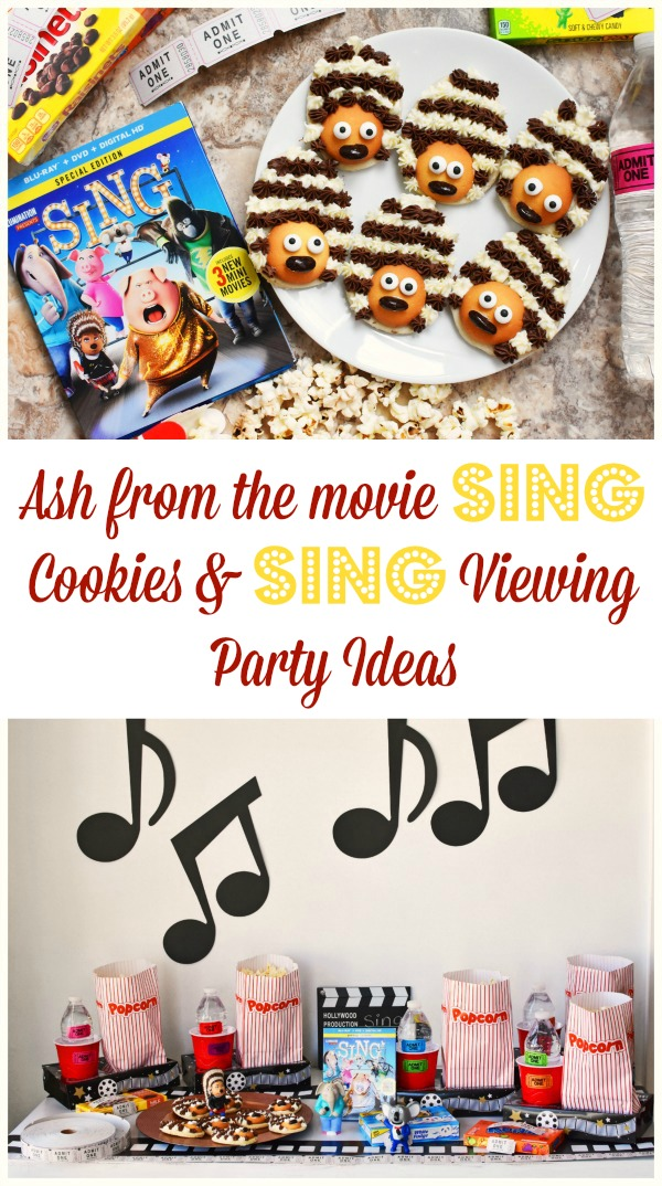 Sing the Movie Viewing Party Ideas and Ash Porcupine Cookies1