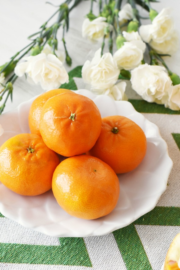 Tangerines and White Flowers1