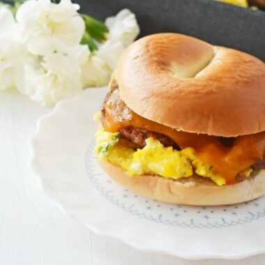 Sausage Egg and Cheese Bagel1