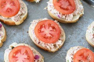 Tuna Toast Melts with Tomato