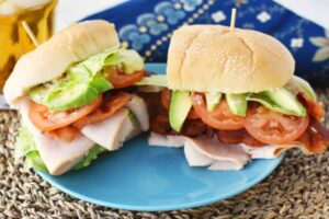Turkey Avocado BLT Served with Mint Iced Tea
