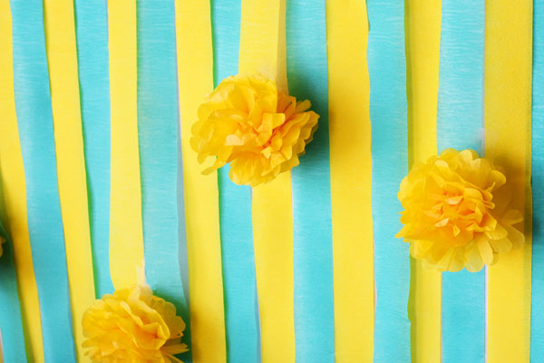 Blue and Yellow Crepe Walls