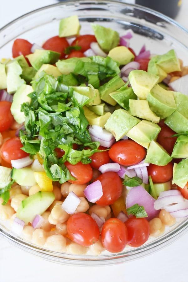 Chick Pea Avocado Salad1