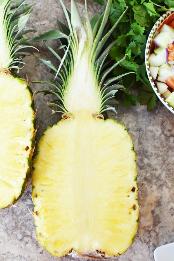 Halved Pineapple