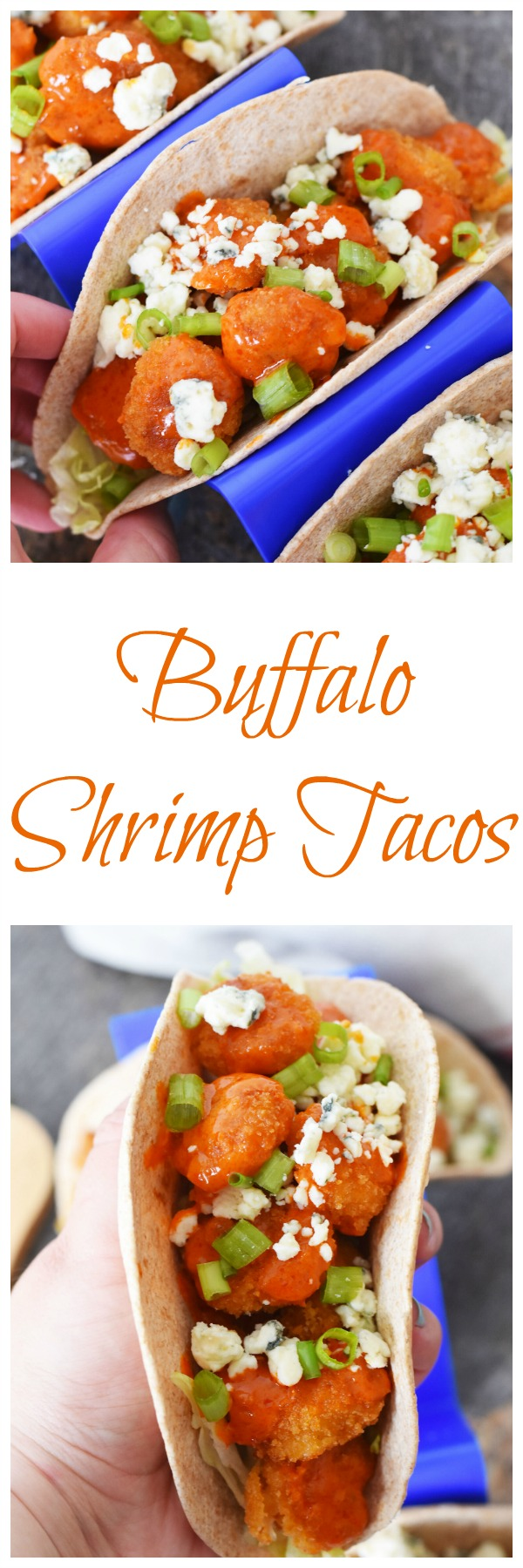 Quick and Tasty Buffalo Shrimp Tacos-A quick meal idea, loaded with so much flavor! Ideal for quick summer meals when time is short, but you want flavor!