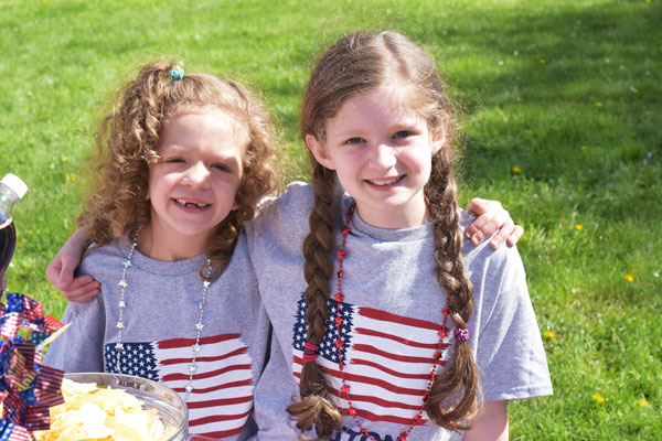Patriotic little girls