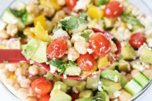 Chick Pea Avocado Salad with Feta
