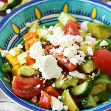Avocado Feta Salad Recipe
