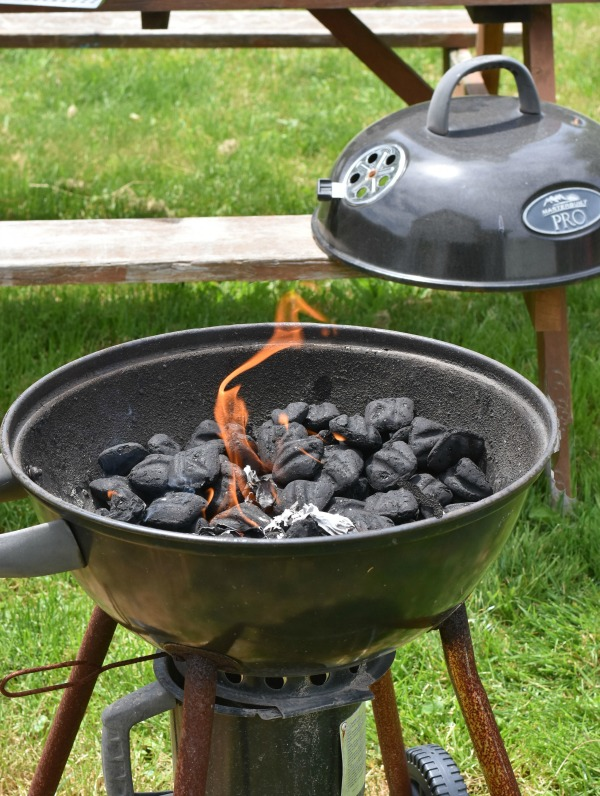 Charcoal Grill on Fire
