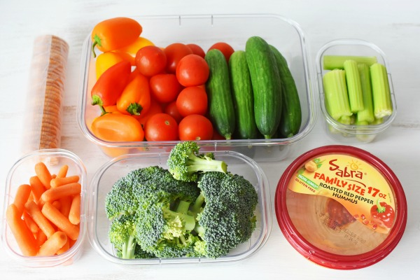 Dip platter veggies