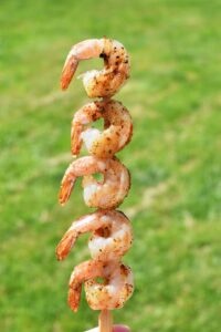 Spicy Shrimp Skewers with Buffalo Ranch Dipping Sauce