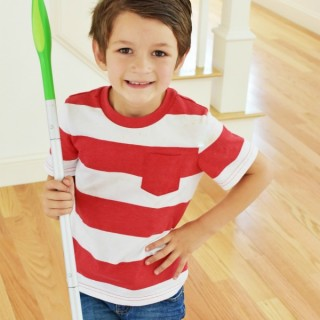 Boy with sweeper