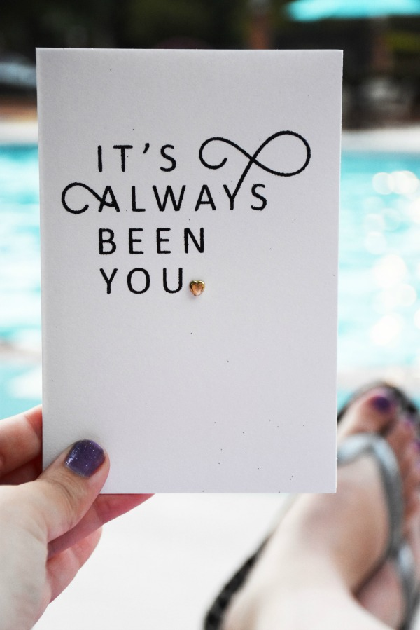 Hallmark Anniversary Card by pool