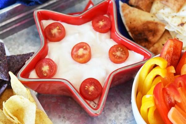 Heluva good dip in star dish