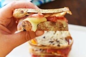 Melty Salami Sandwich