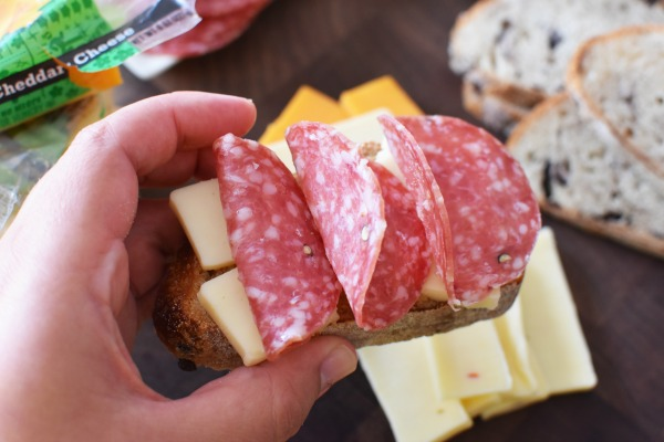 Salami and cheese
