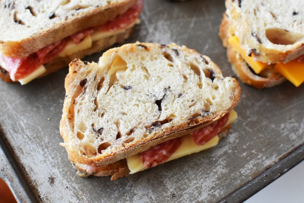 Toasted Salami and Cheese Sandwiches
