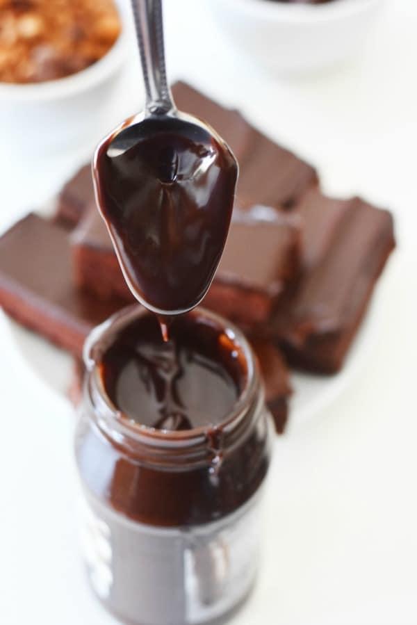 chocolate sauce drip