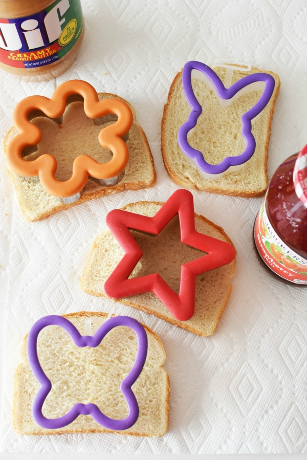 cookie cutter sandwiches