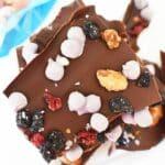 Blueberry Pie Chocolate bark