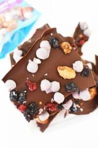 Healthier Blueberry Pie Chocolate Bark