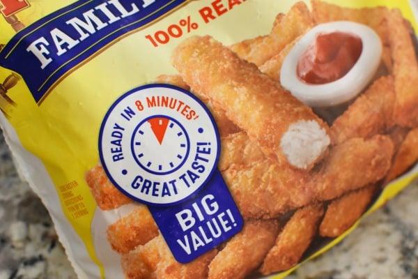 Gortons Crunchy Fish Sticks ready in 8 mins1