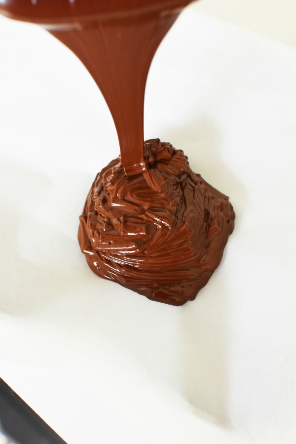 Melted chocolate drizzle