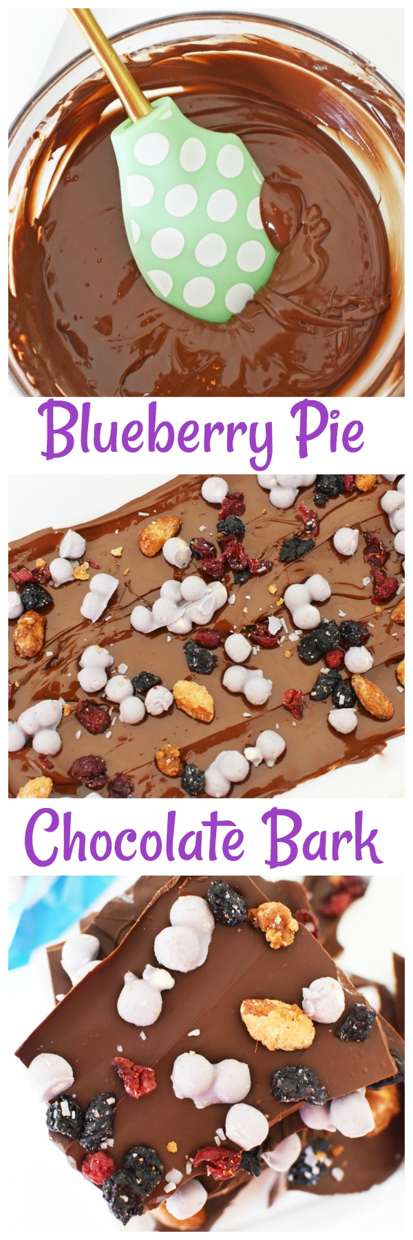 Nutritious Blueberry Pie Chocolate Bark