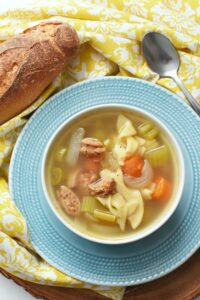 Chicken Noodle Sausage Soup