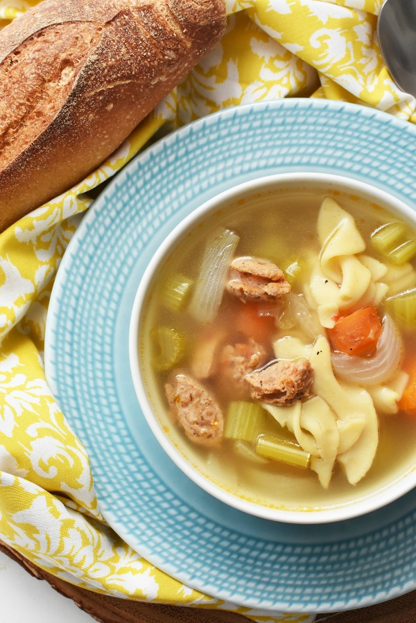 Chicken soup with sausage1