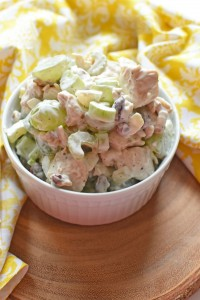 Chicken Salad with Green Grapes, Cranberries, & Walnuts